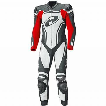 Held Rush 1 Piece Race Spec Leather Motorcycle Motorbike Suit - Black White Red